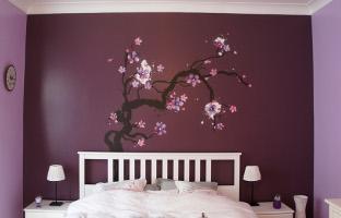 Peinture murale d arbre en chambre d enfant namur tendances for Peinture chambre a coucher tendance