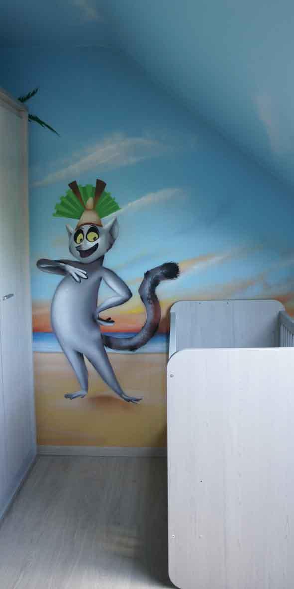 Id es de th mes pour une fresque murale de chambre d enfant - Fresque murale moderne ...