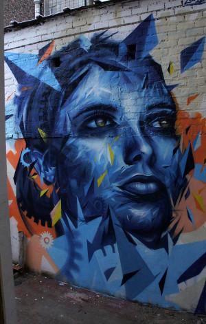 Cas Concret De Décoration Murale Street Art à Bruxelles