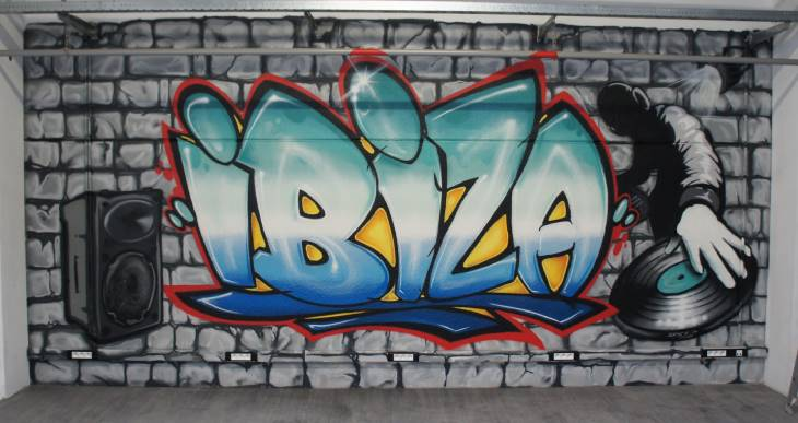 ibiza graffiti lettrage decoration